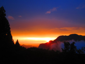 The sunset over Alishan