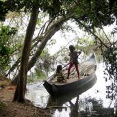 Girls in their boat: Siem Reap, Cambodia