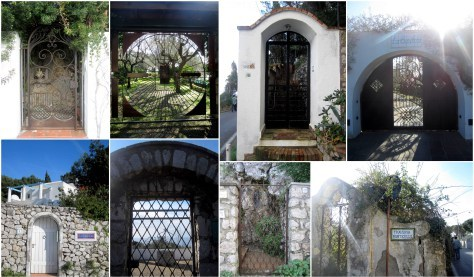 As I rushed along the streets of Capri, I couldn't help but stop to take pictures of their front gates-- they were just too perfect not to take a second to remember.