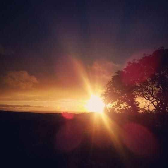 Countryside Sunset in Saintfield, Northern Ireland