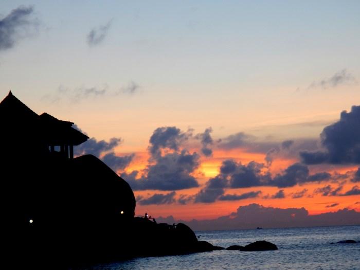 Sunset at Chalok Baan Kao Beach on Koh Tao, Thailand