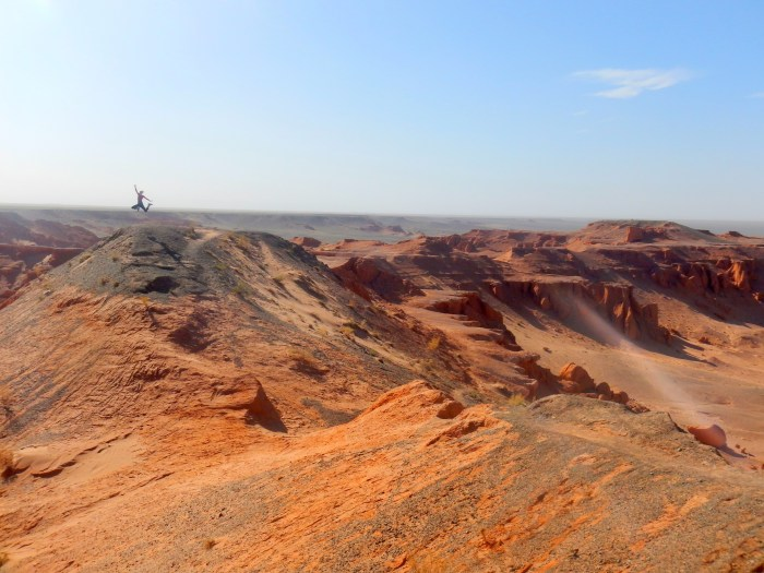 Bayanzag, the Flaming Cliffs of the Gobi Desert, Mongolia