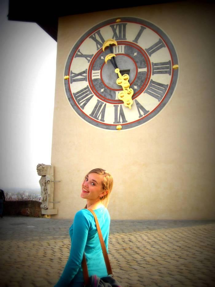 The clock tower, Schloßberg, in Graz, Austria