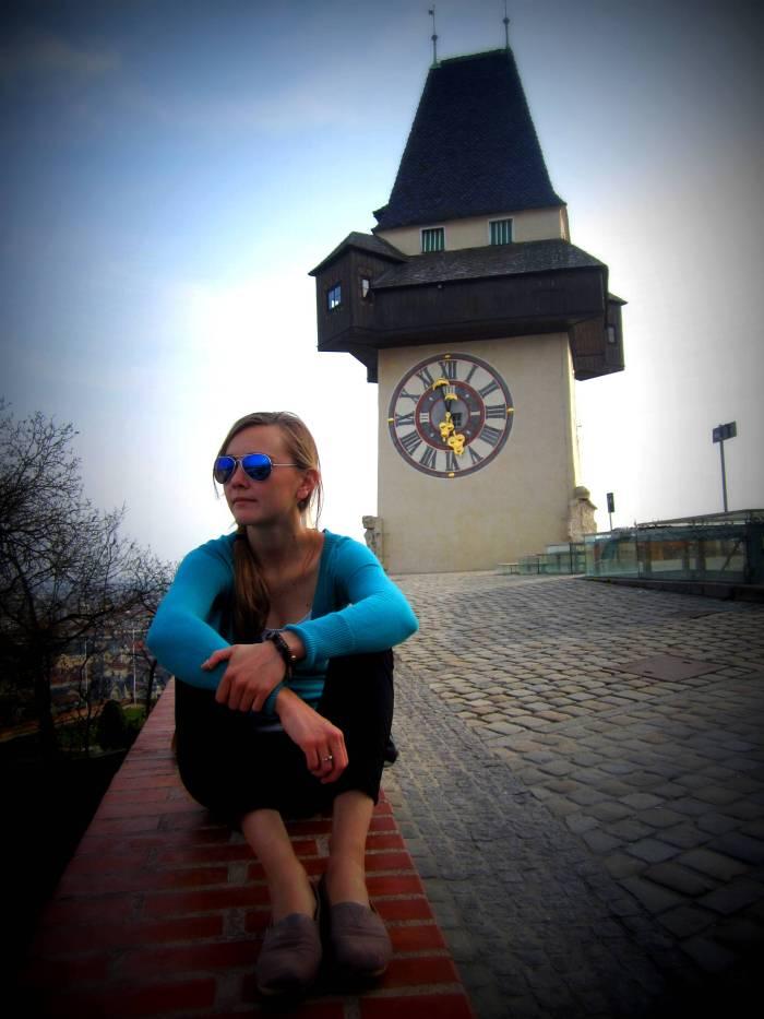 The clock tower, Schloßberg, in Graz
