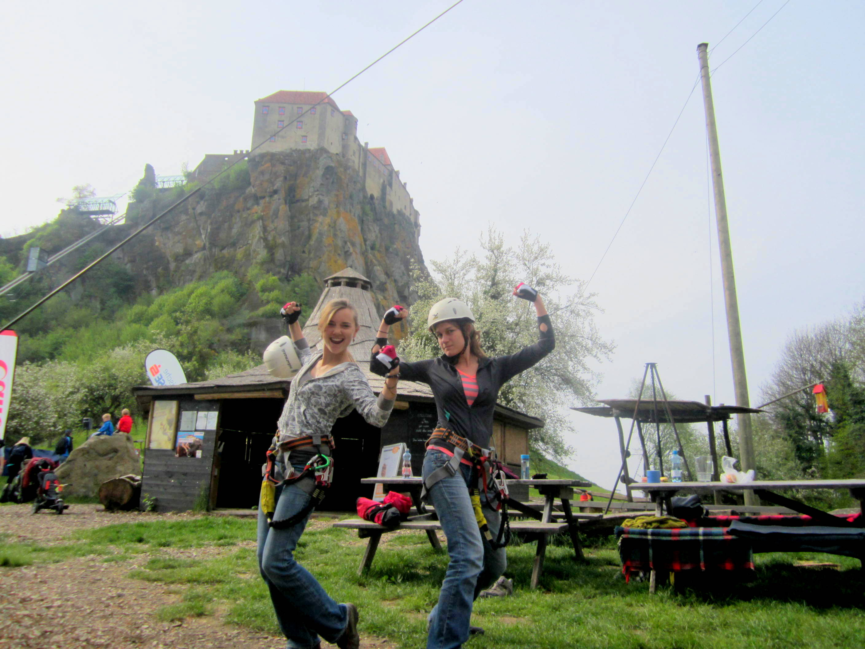 Climbing Riegersburg Castle, Austria