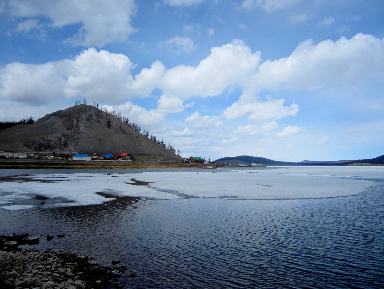 Khatgal sits on the shore of Lake Khövsgöl, Mongolia