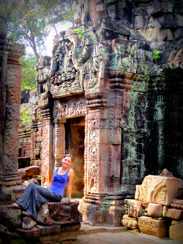 In Banteay Srei Cambodia