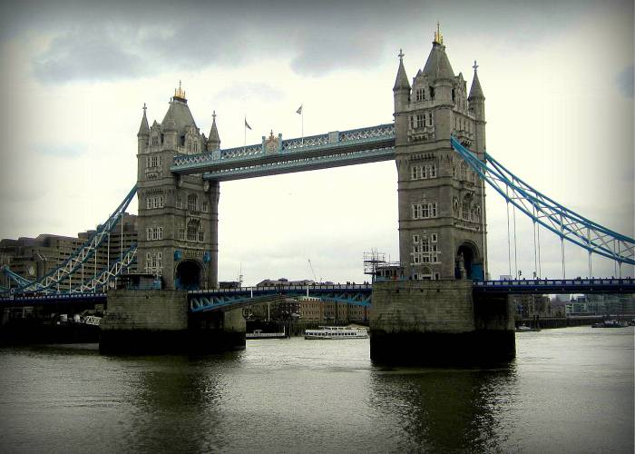 Tower Bridge... (not London Bridge). London, England