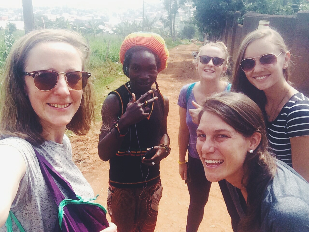 Kampala, Uganda- with our friend and guide.