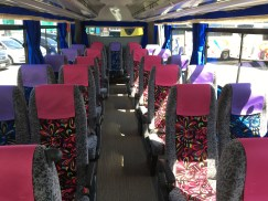 Mid size bus inside