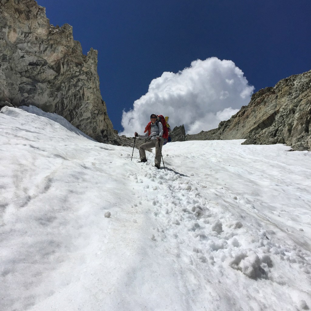 Descending Shepherd Pass. The summit is just a little over 3 miles off the John Muir Trail (JMT).