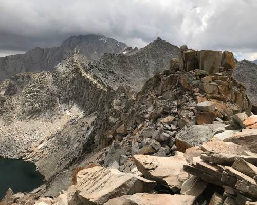 The Mount at the summit of Kearsarge Pass