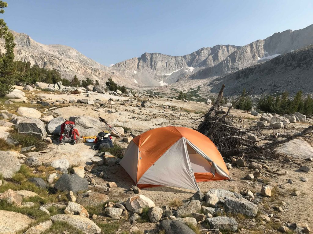 Our campsite near Palisade Lakes was a hidden gem.
