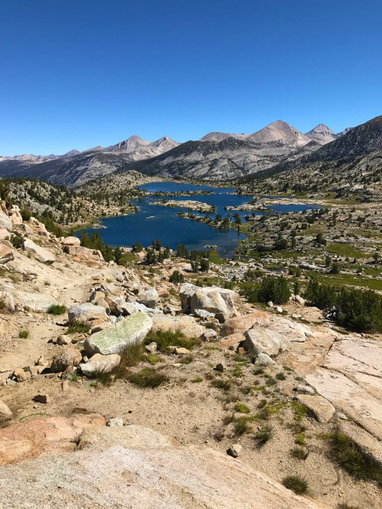 Marie Lake, as viewed from Selden Pass, is one of the gems of the Sierra on the John Muir Trail that invokes feelings of awe.
