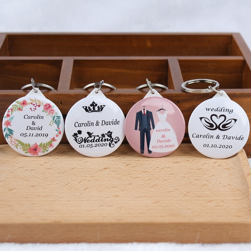 50pcs personalized keychain with