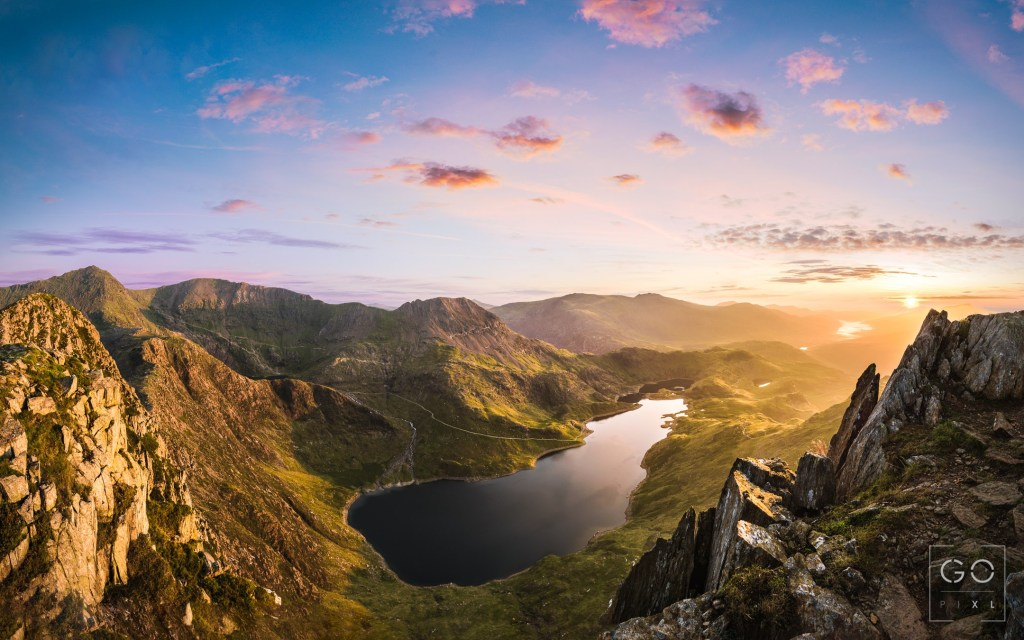 Sunrise at the Snowdon Horseshoe