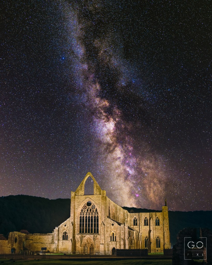 Tintern Abbey under the Milky Way