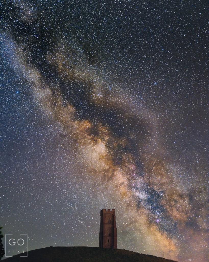 The Milky Way over Glastonbury