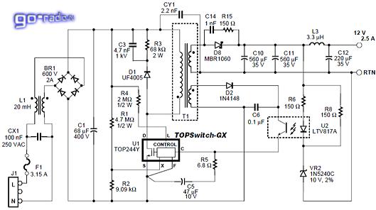 Устройство, описание принципа работы узлов монитора по