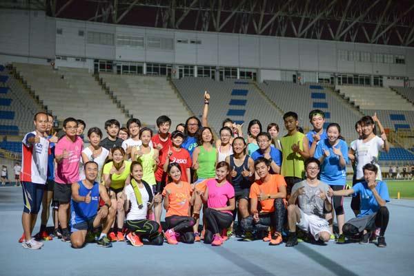 【圖一】亞瑟士年度代言人姚元浩及田中馬拉松參賽藝人安婕希、Amis、 Emmie Ries 邀請跑友們共同參加亞瑟士訓練計畫。