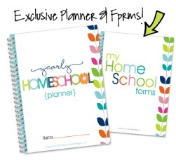 Homeschool Organization Course Bonus Planner Forms