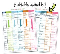 Homeschool Organization Course Bonus Editable Schedules