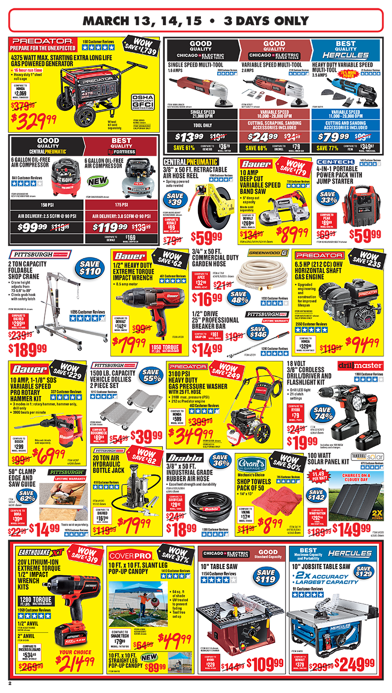 Harbor Freight Ridgecrest : harbor, freight, ridgecrest, Parking, Sale!, Harbor, Freight, Coupons