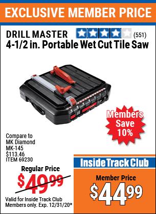 portable wet cut tile saw