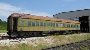 Segregated railroad car before refurbishment.
