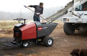Sample concrete buggy rental at our rental center