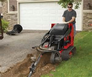 Compact Loader Trencher Attachment Gas Rental - Effingham Builders Supply Rental Center
