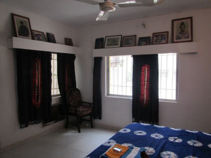 Rooms have ACs and ceiling fans