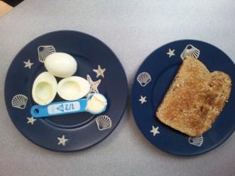 egg white 60cal, mayo 50cal