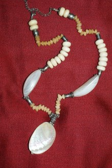 necklace made by friend