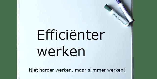 Efficienter werken