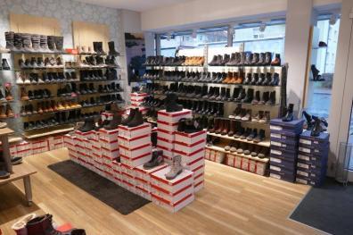 Sorgfältig abgestimmtes Schuh-Sortiment