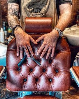 Barbierstuhl im alten Stil