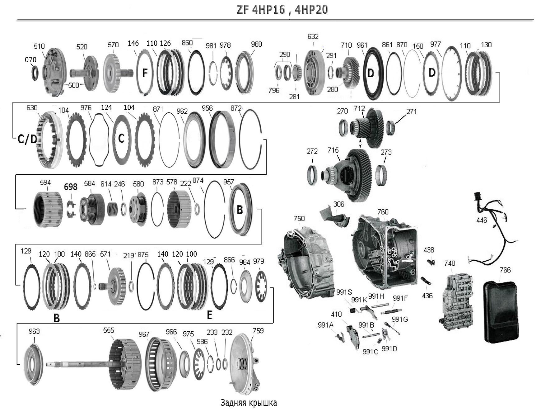 4HP20 Transmission parts, repair guidelines, problems, manuals