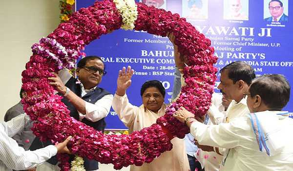 Mayawati unanimously re-elected BSP president | | Goa Chronicle