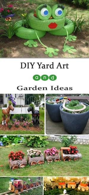 Diy Yard Art And Garden Ideas