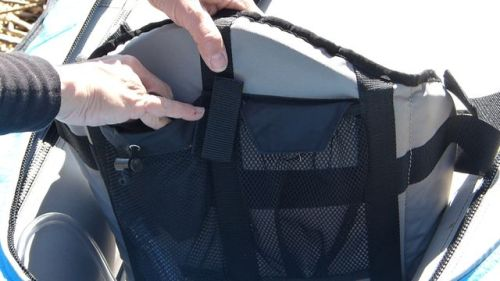 Mesh pocket on the back of the seats