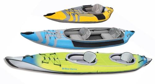 Used inflatable kayaks.