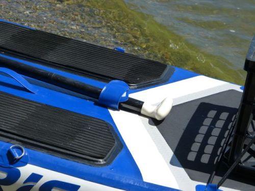 Velcro paddle/rod holders