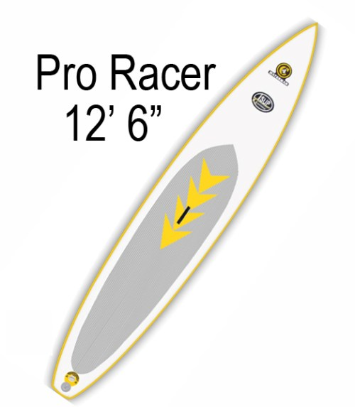 """C4 Waterman Pro Racer 12'6"""" Inflatable SUP"""