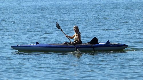 Columbia Tandem HP paddled solo.