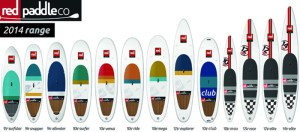 Red Air 2014 Inflatable SUP lineup