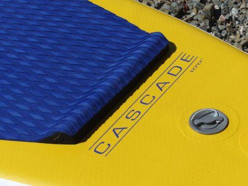 Stomp pad and diamond-groove EVA deck pad.