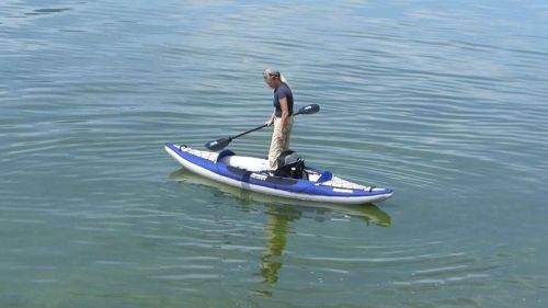 The Columbia One HB inflatable kayak is extremely stable.