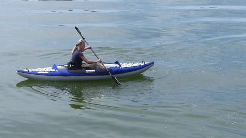 Columbia One HB inflatable kayak on the water.