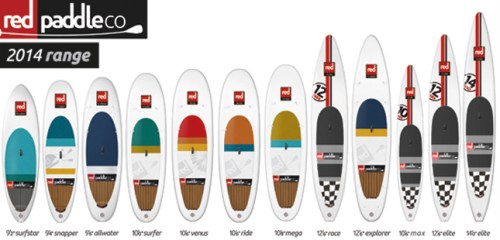 2014 Red Paddle Co ISUP Lineup